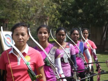 Indian Women Team storms to the finals of World Cup in Shanghai. Image courtesy: Twitter/@OGQ_India