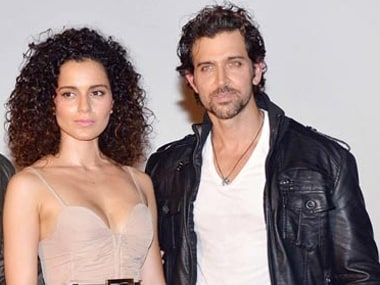 Kangana Ranaut with Hrithik Roshan. Image from IBNlive