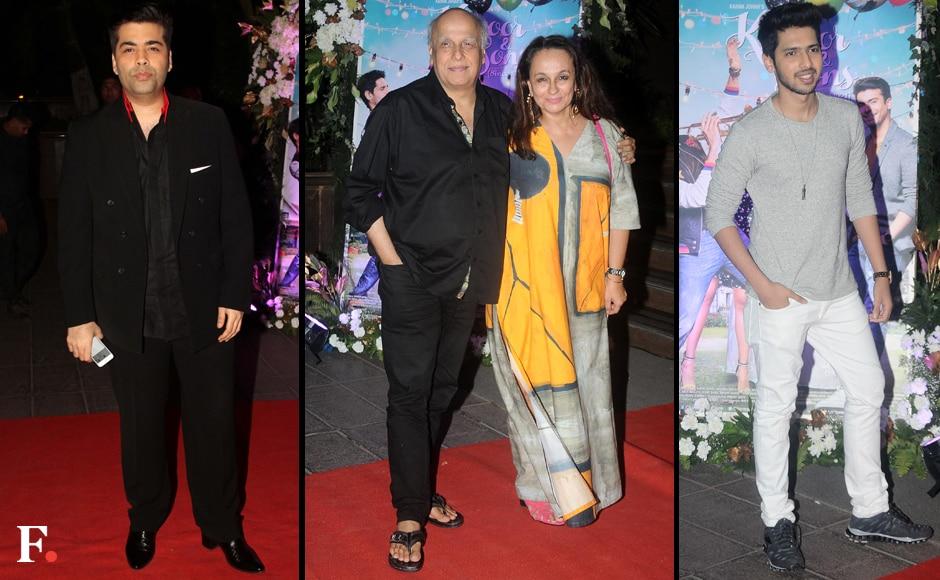 Karan-Johar,-Mahesh-Bhatt-with-wife-Soni-Razdan,-Aman-Malik