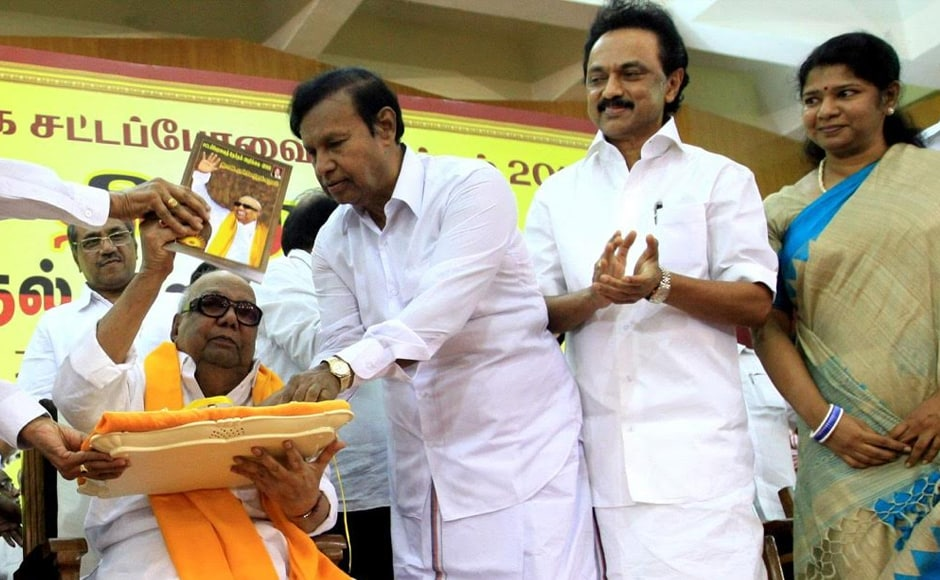 According to DMK, to ensure economic development in the rural areas, concentration should be on agriculture, building rural infrastructure, and making available basic education in rural areas. Firstpost