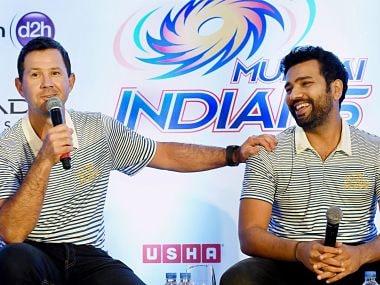 Mumbai Indians' coach Ricky Ponting and captain Rohit Sharma PTI