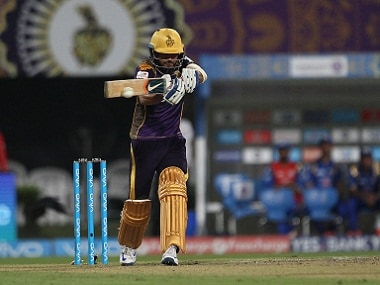 Manish Pandey in action during Kolkata Knight Riders' match against Mumbai Indians at Eden Gardens. BCCI