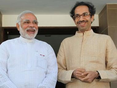 A file photo of Uddhav Thackeray and Narendra Modi. PTI