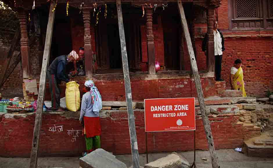 Local people move in sections declared 'danger zone' with impunity as tourists desert their favourite spot. Image courtesy: Smita Sharma
