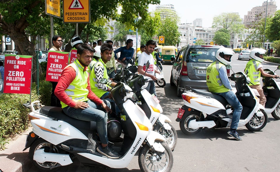 Free-ride offer: Several companies launched motorcycle services in Delhi in a bid to push their products. These operators will offer free rides for the citizens during the Odd-Even fortnight. The autowallahs in Delhi have registered their protests against such cab and motorcycle operators fearing loss of business. Firstpost/Naresh Sharma