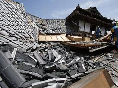 The earthquake in Japan. File photo. AP