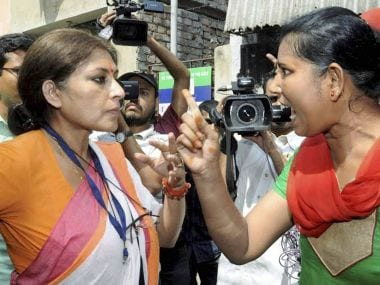 File image of Roopa Ganguly (L). PTI