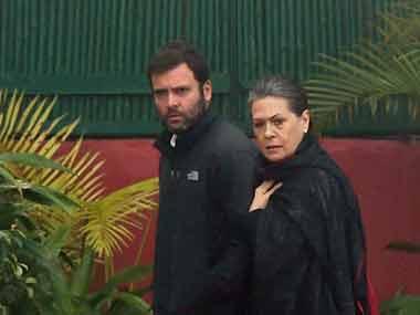 File image of Rahul and Sonia Gandhi. PTI