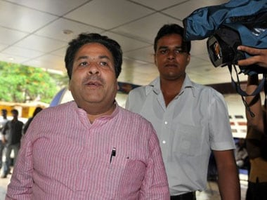 File picture of Rajeev Shukla. AFP