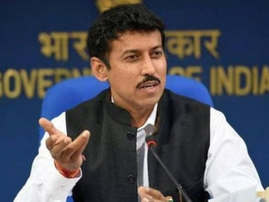 File image of sports minister Rajyavardhan Singh Rathore. PTI