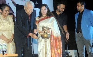 Ramesh, Smita and Abhinay Deo ready for the launch.<br />Image by Sachin Gokhale/Firstpost