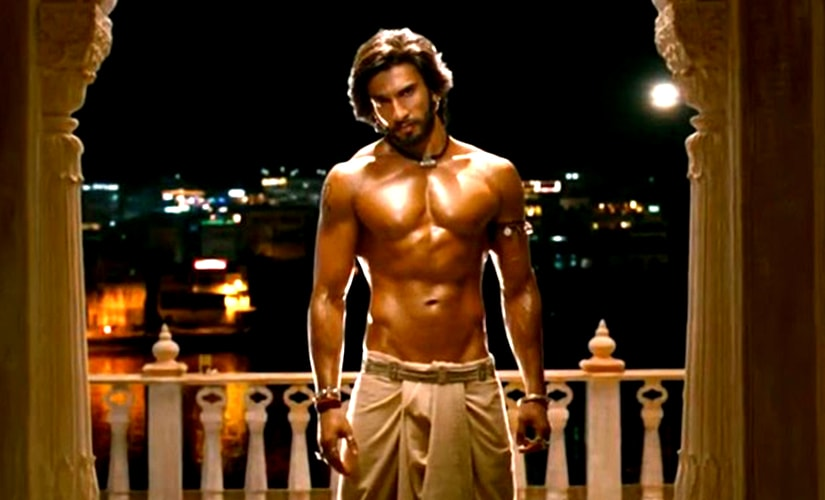 Ranveer Singh shows off his six packs in Goliyon Ki Rasleela: Ram-Leela. Recent Bollywood films, like Ram-Leela, Bajirao Mastani and Rocky Handsome have seen male actors being objectified