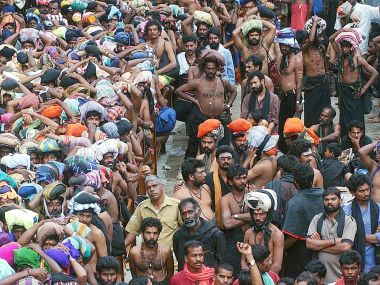 File photo of pilgrims at the Sabarimala temple. Reuters