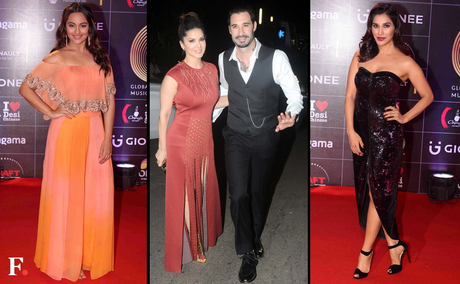 Sonakshi,-Sunny-Leone-with-husband,-Sophie-Chaudhry