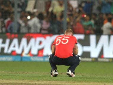 Ben Stokes after England's loss in the World T20 final at Eden Gardens on Sunday. Solaris Images
