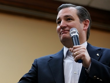 Republican presidential candidate Ted Cruz speaks during the Wyoming GOP Convention on Saturday. AP