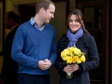 A file photo of Prince William and Kate Middleton. AP