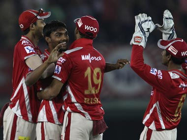 File photo of the Kings XI Punjab. BCCI