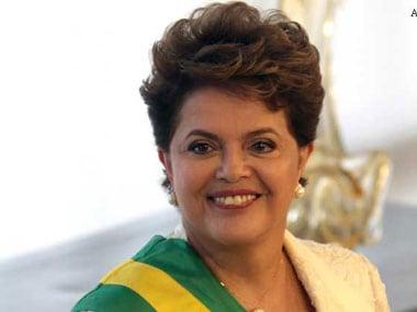 Embattled Brazilian president Dilma Rousseff. AP