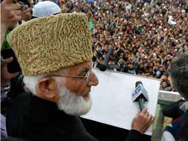 A file photo of Syed Ali Shah Geelani. PTI