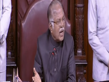 Deputy Chairman PJ Kurien at the Rajya Sabha. File photo. RajyaSabhaTVYouTube