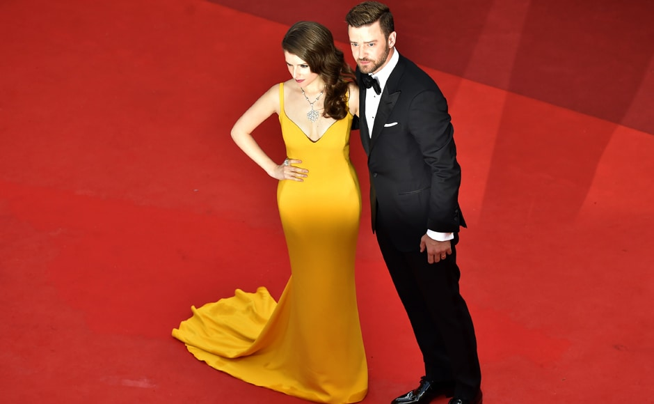 Anna Kendrick andJustin Timberlake pose for the opening ceremony of the 69th Cannes Film Festival in Cannes. AFP image.