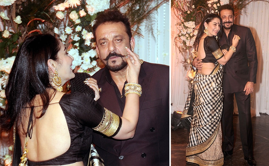 Sanjay Dutt and his wife Manyata made for an adorable couple at the wedding. Sachin Gokhale/ Firstpost