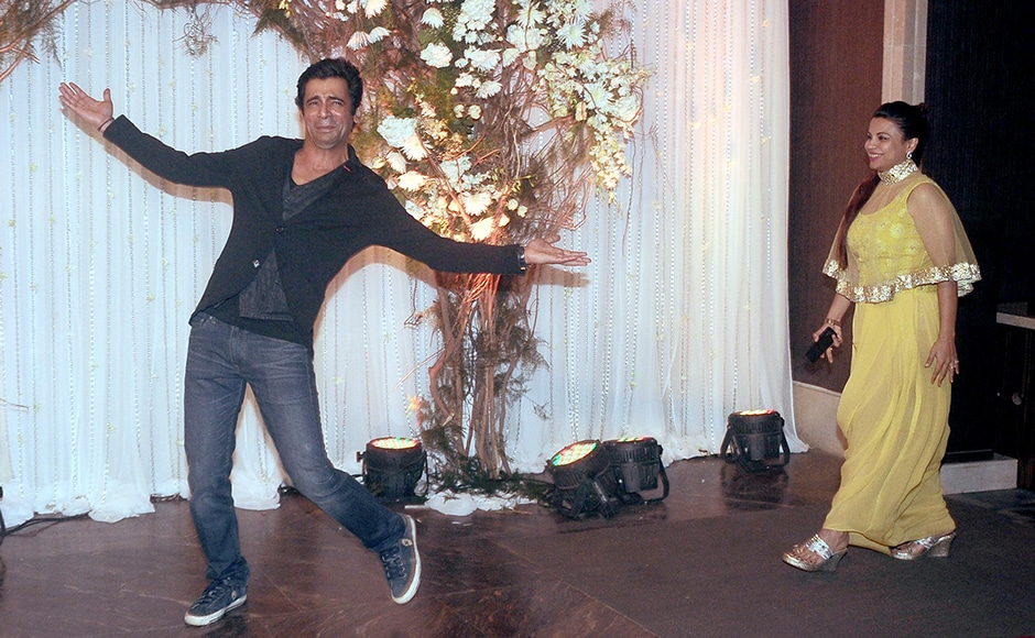 Sunil Grover clearly was in the mood for some dance moves at the wedding. Sachin Gokhale/ Firstpost