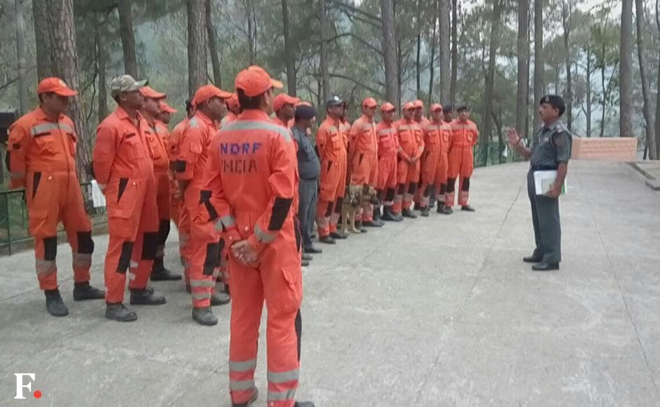As many as 922 incidents of forest fire have taken place since the beginning of the forest fire season in the state. Image courtesy: NDRF.