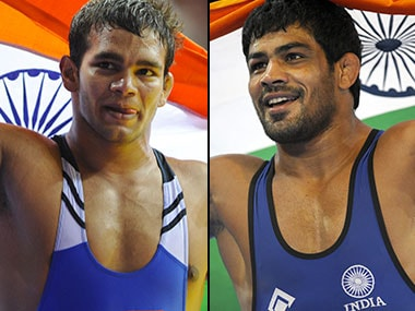 Narsingh Yadav and Sushil Kumar, the two men contending for the sole Olympic spot. AFP