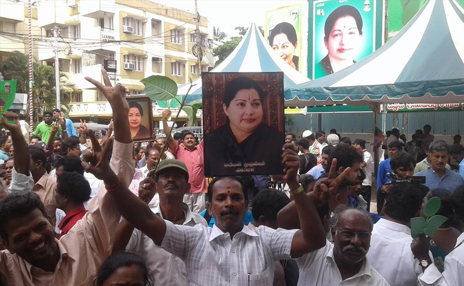 AIADMK chief Jayalalithaa was leading by over 16,000 votes in Dr RK Nagar constituency, forging ahead of her DMK rival Shimla Muthchozhan. Firstpost