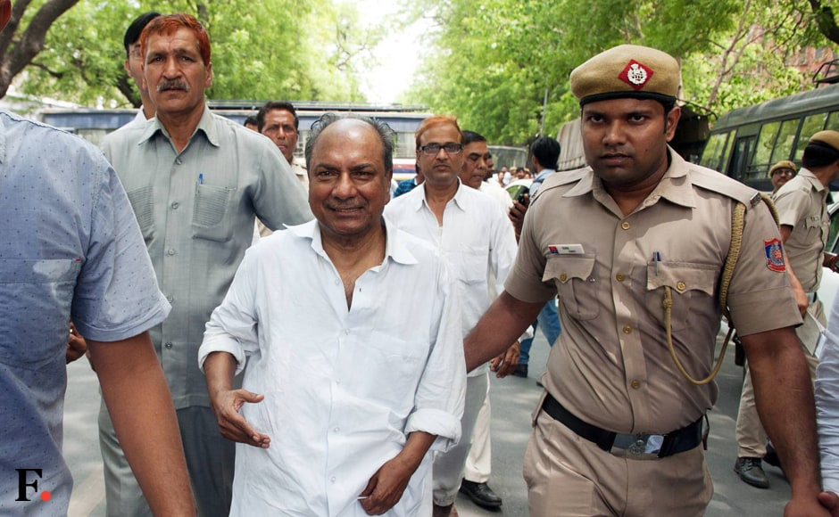 Former defence minister AK Antony at the protest. Naresh Sharma/Firstpost