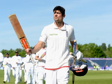 Alastair Cook after leading England to a series win. Getty