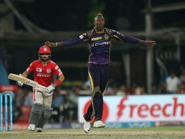 Andre Russell of Kolkata Knight Riders. BCCI