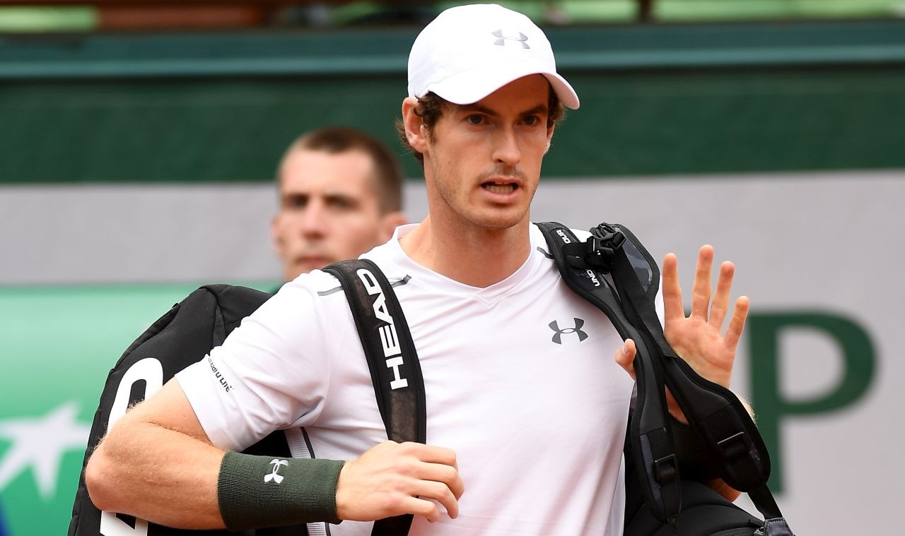 PARIS, FRANCE - MAY 23: Andy Murray of Great Britain makes his way onto court prior to the Men's Singles first round match against Radek Stepanek of the Czech Republic on day two of the 2016 French Open at Roland Garros on May 23, 2016 in Paris, France. (Photo by Dennis Grombkowski/Getty Images)