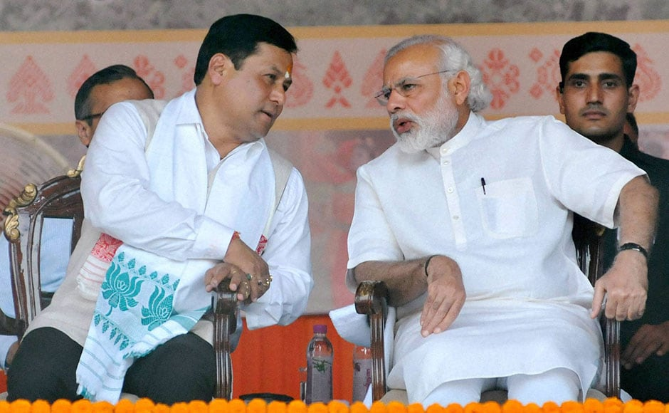 After 15 years of Congress rule in Assam, Sarbananda Sonowal-led BJP clinched a massive victory in the northeastern state. Fifty-four-year-old Sonowal's name as the party's face came as no surprise as he came with a clean image and no baggage and enjoyed the confidence of Prime Minister Narendra Modi. PTI