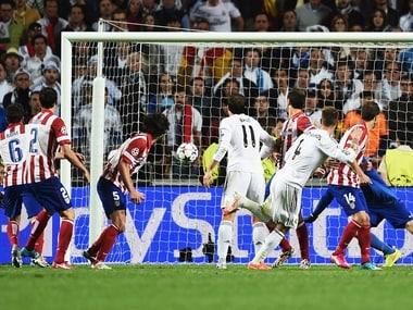 Sergio Ramos had scored off a corner to equalise against Atletico in the 2014 Champions League final. Getty