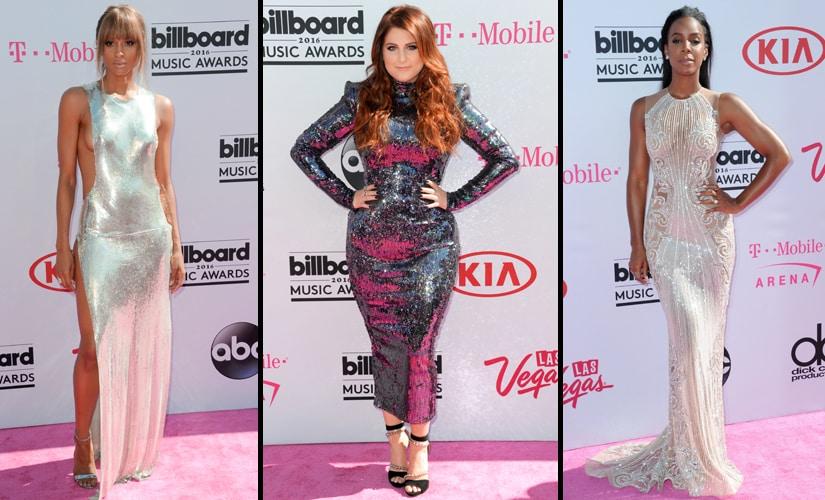 (L-R) Ciara, Meghan Trainor, Kelly Rowland. Image from AP
