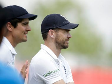 File photo of James Anderson and Alastair Cook. AP