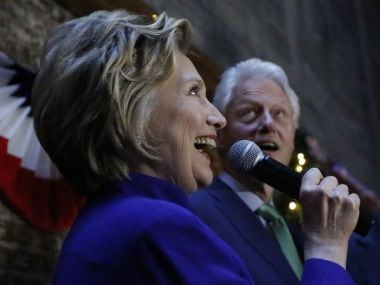 File photo of Hillary Clinton and former President Bill Clinton. AP
