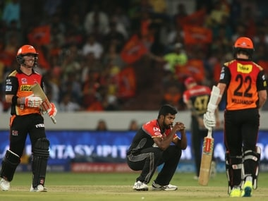 David Warner and Kane Williamson hit half centuries and formed a 100-run partnership to power SRH's win. BCCI
