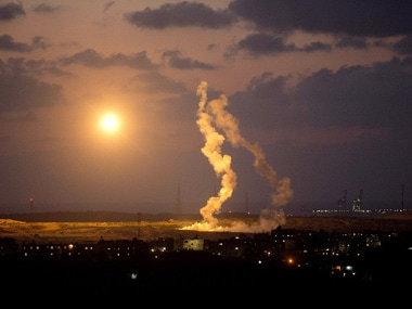 A file photo of a air strike on Gaza. AFP