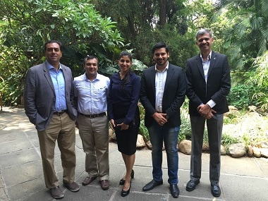(left to right): Team Healthify with investors