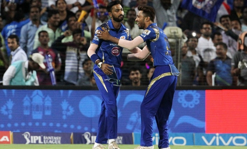 Krunal and Hardik Pandya became the first pair of siblings to play for the same IPL franchise: Mumbai Indians. BCCI