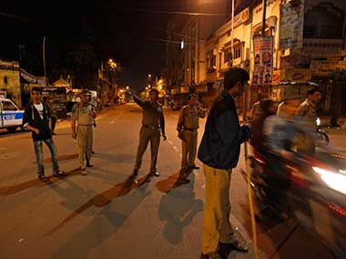 File photo of Hyderabad police. AP.