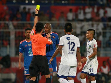 The ISL Final saw a lot of tussles between the players. Sportzpics