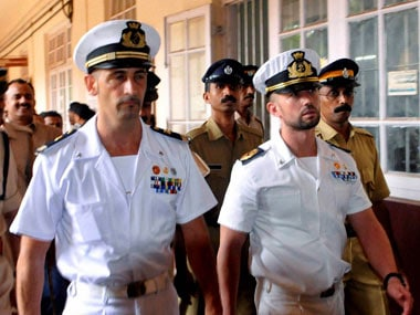 Italian marine Girone's bail conditions relaxed. File photo. PTI
