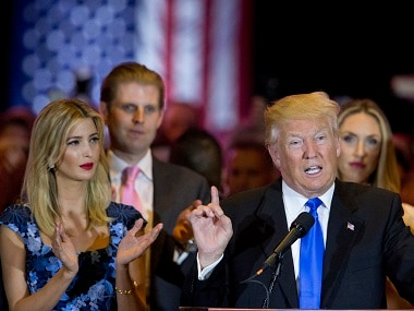Ivanka Trump with her father Donald Trump. AP