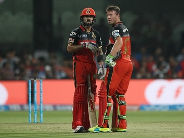 Leading run-getters for RCB Virat Kohli and AB de Villiers will hope to get a solid partnership against KKR. Sportzpics/IPL