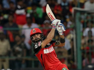 Virat Kohli plays a shot during his unbeaten match-winning innings of 108 off 58 balls. Sportzpics/IPL